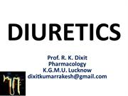 Pharmacology of Diuretic drugs