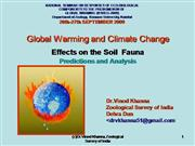 Global Warming and Climate Changes Effects on the