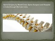 Best Spine Surgery Hospital in India