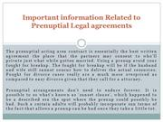 Important information Related to Prenuptial Legal agreements