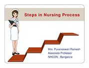 Steps in nursing process