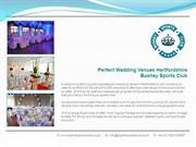 Wedding Venues Hertfordshire - Bushey Sports Club