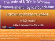 The Role of NGOs in Women Empowerment  by LDA Foundation