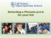 Selecting a Phoenix pre-k for your kid