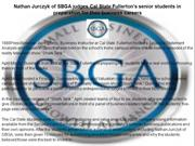 Nathan Jurczyk of SBGA judges Cal State Fullerton's senior students