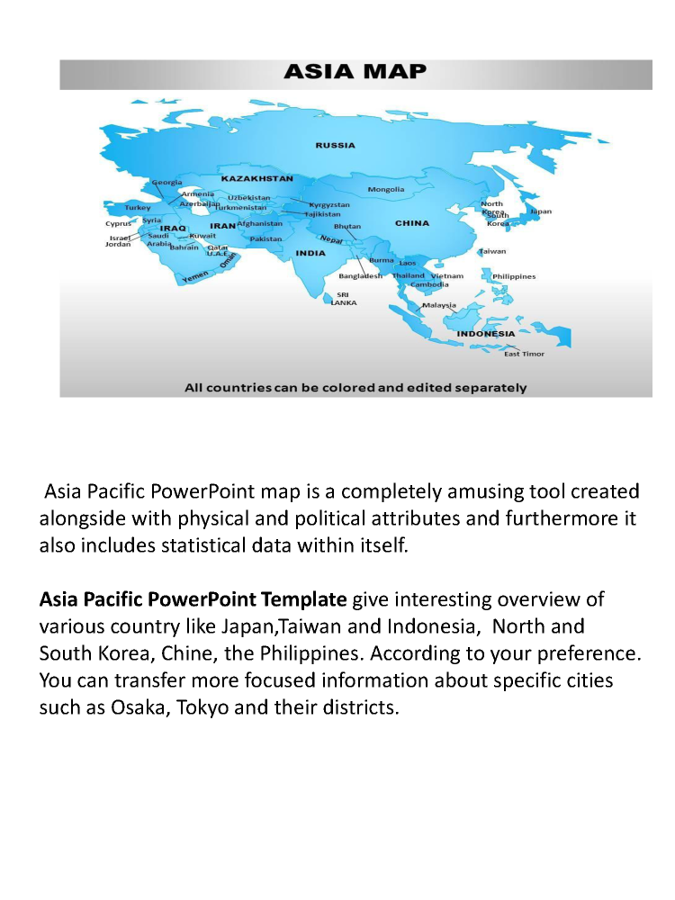 Effective Powerpoint PPT Template for Asia Pacific Map |authorSTREAM