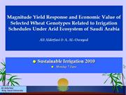 My presentation in Sustainable Irrigation 2010