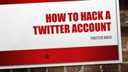 Twitter Account - How to hack a Twitter Account