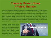 Company Broker Group_A Valued Business