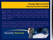 Arksego Nigeria Limited_ Security Services Provider