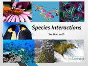 4. 1 Species interactions- 1