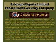 Arksego Nigeria Limited_Professional Security Company