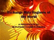 Exchange Rate Regimes of the World1