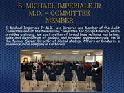 S. MICHAEL IMPERIALE JR M.D. - COMMITTEE MEMBER