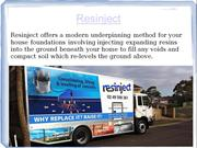 Foundation Repair Services provided by Resinject