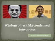 Wisdom of Jack Ma condensed into quotes