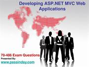 Latest & Updated Top 10 Developing ASP.NET MVC Web Applications 70-486