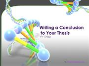 Writing a Thesis Conclusion