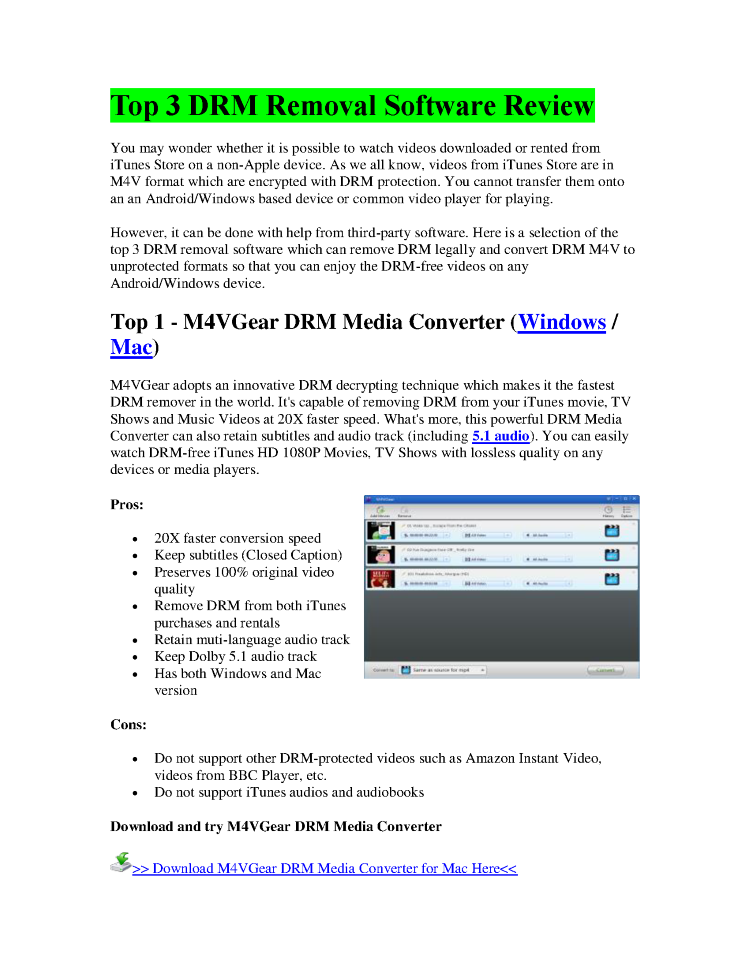 drm media converter free full version download