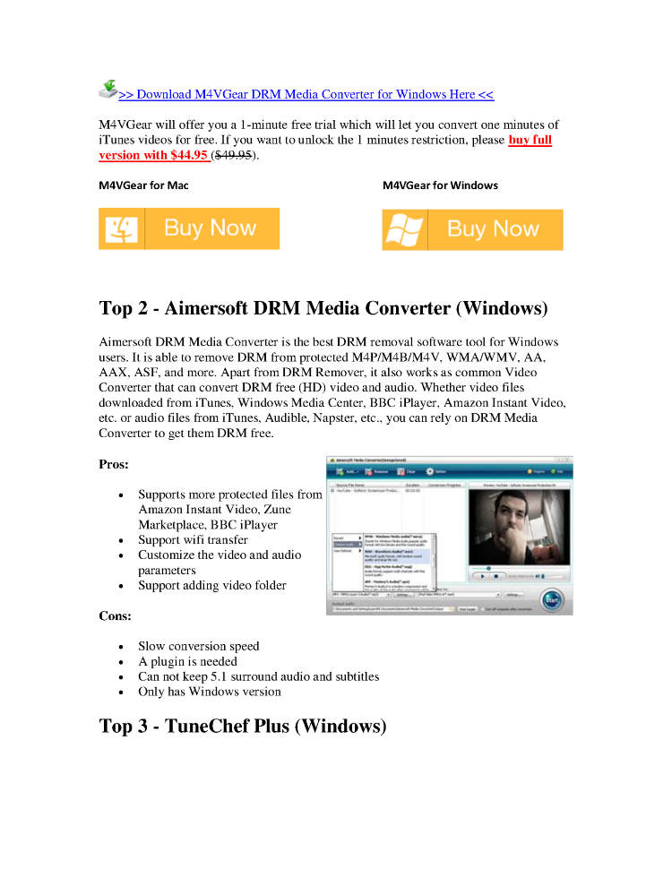 Top 3 DRM Removal Software Review |authorSTREAM