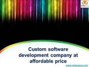 Custom software development company at affordable price