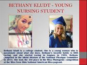 BETHANY KLUDT - YOUNG NURSING STUDENT