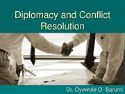Diplomacy and Conflict Resolution