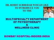 DR ROHIT SUBHEDAR AT MULTISPECIALTY DEPARTMENT OF PHYSIOTHRAPY-BHI