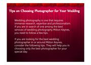 Tips on Choosing Photographer for Your Wedding