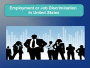 Job or Employment Discriminatin law in the United States