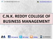 C.N.K. REDDY COLLEGE OF BUSINESS MANAGEMENT