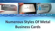 Numerous Styles Of Metal Business Cards