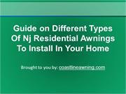 Guide on Different Types Of Nj Residential Awnings To Install In Your