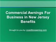 Commercial Awnings For Business in New Jersey Benefits