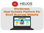 Wordpress: Most Suitable Platform for Small Business Website