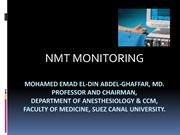 NMT monitoring2011 dr emad