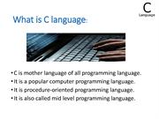 introduction to cprogramming