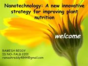 NanoTechnology in Agriculture by Ramesh Reddy