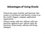 Advantages of Using Oracle