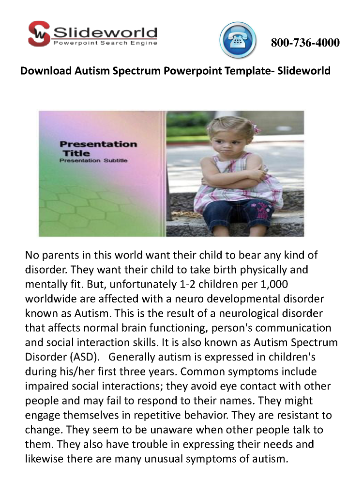 Download autism spectrum powerpoint template slideworld authorstream download autism spectrum powerpoint template slideworld toneelgroepblik Images