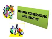 ALGEBRIC EXPRESSIONS AND IDENTITY
