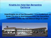 Knights Inn Hotel in San Bernardino CA