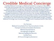 Credible Medical Concierge:Best Medical Services provider in India