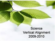 Science Vertical Alignment Session 3