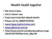 Health Wealth together ipwu