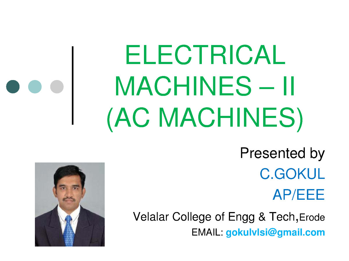 Electrical machines 2 ac machines authorstream related presentations ccuart Gallery
