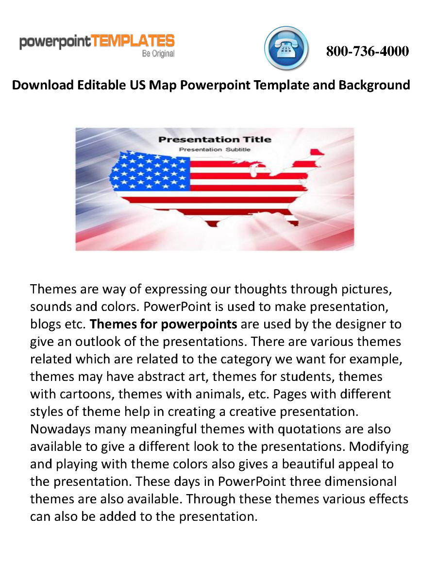 Download Editable US Map Powerpoint Template And Background ...