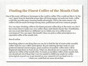 Coffee of the Month Club Reviews