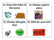 Steps 4 playing a game