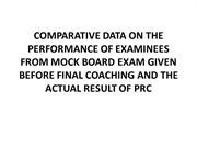 COMPARATIVE DATA ON THE PERFORMANCE OF EXAMINEES FROM
